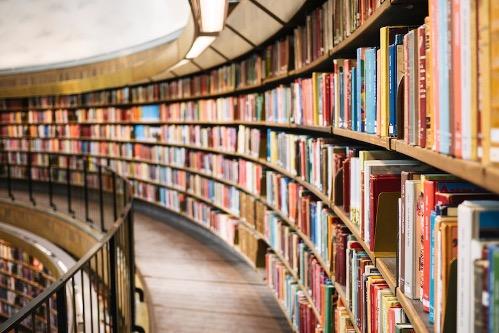 many books on shelves